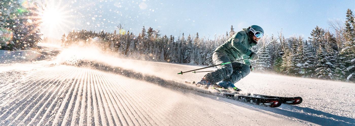 Saddleback Mountain, Maine - fast groomer run