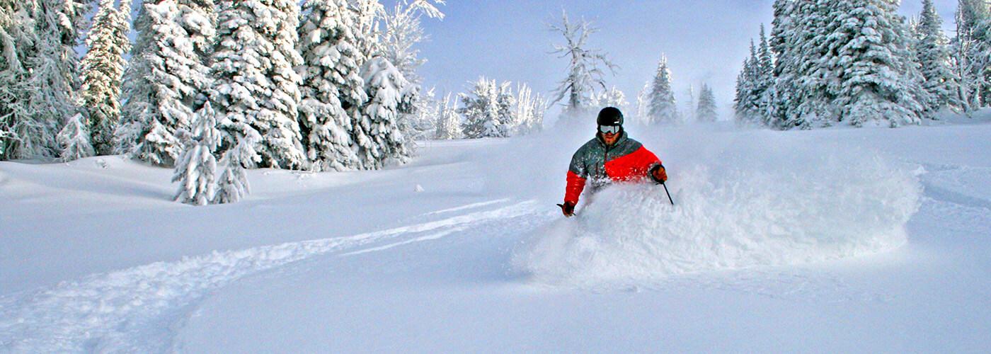Brundage, Idaho - fresh tracks in powder