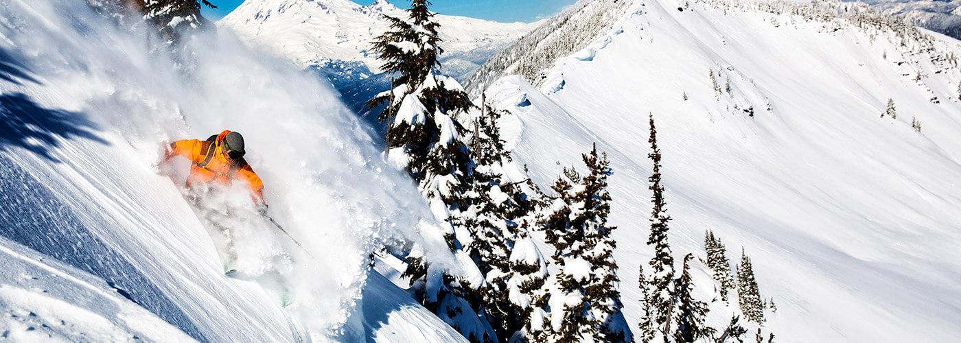 White Pass, Washington - steep powder run